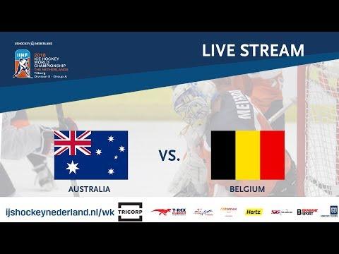 Live Stream WC Ice Hockey Division II Group A: Australia vs. Belgium April 24th 2018