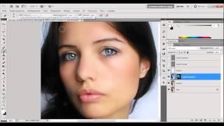 Уроки по фотошоп. Ретушь в фотошоп. Профессиональная ретушь женского портрета