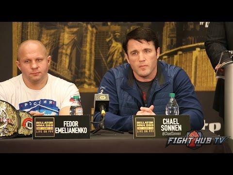 The HILARIOUS Chael Sonnen vs Wanderlei Silva FULL BELLATOR 180 Q&A