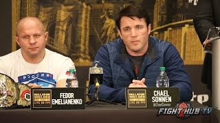 The HILARIOUS Chael Sonnen vs Wanderlei Silva FULL BELLATOR 180 Q&A thumbnail