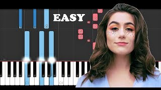 Dodie - In The Middle (SLOW EASY PIANO TUTORIAL)