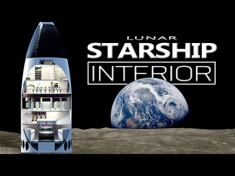 Inside SpaceX's Moon Lander: The Lunar Starship