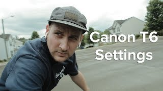 How to setup the Canon Rebel T6
