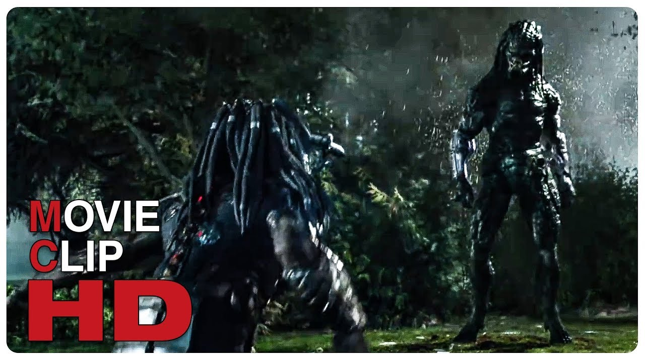 Mega Predator vs Predator - Fight Scene | PREDATOR (2018) Movie CLIP HD