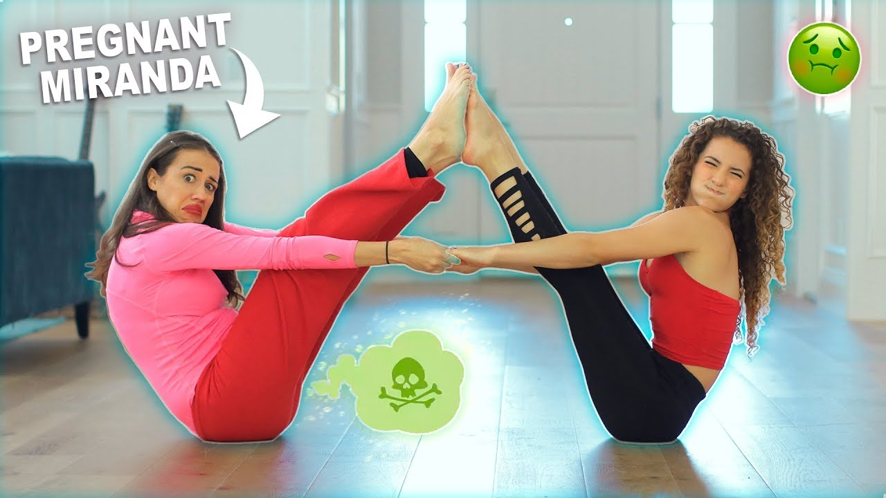 YOGA CHALLENGE WITH PREGNANT MIRANDA SINGS - YouTube