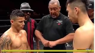 Колумбийский боксер сумел выстоять против монгола только 3 раунда
