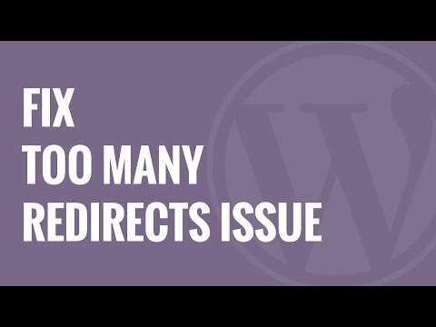 How to Fix Error Too Many Redirects Issue in WordPress - YouTube