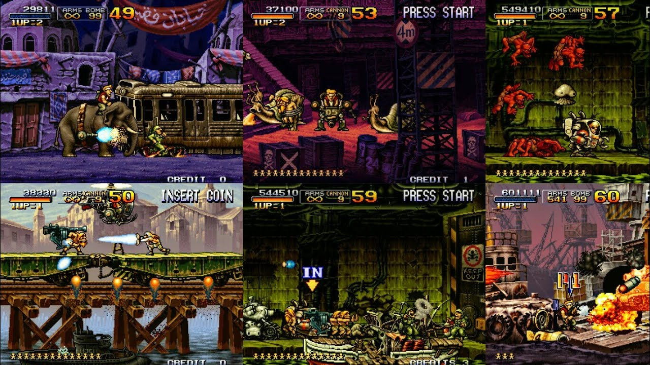 Metal slug X Elite Mix Para Tiger Arcade.Fba4droid y Kawaks en Android - YouTube