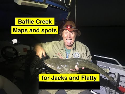 Baffle Creek, Maps And Spots, Fishing For Mangrove Jacks And Flatty.