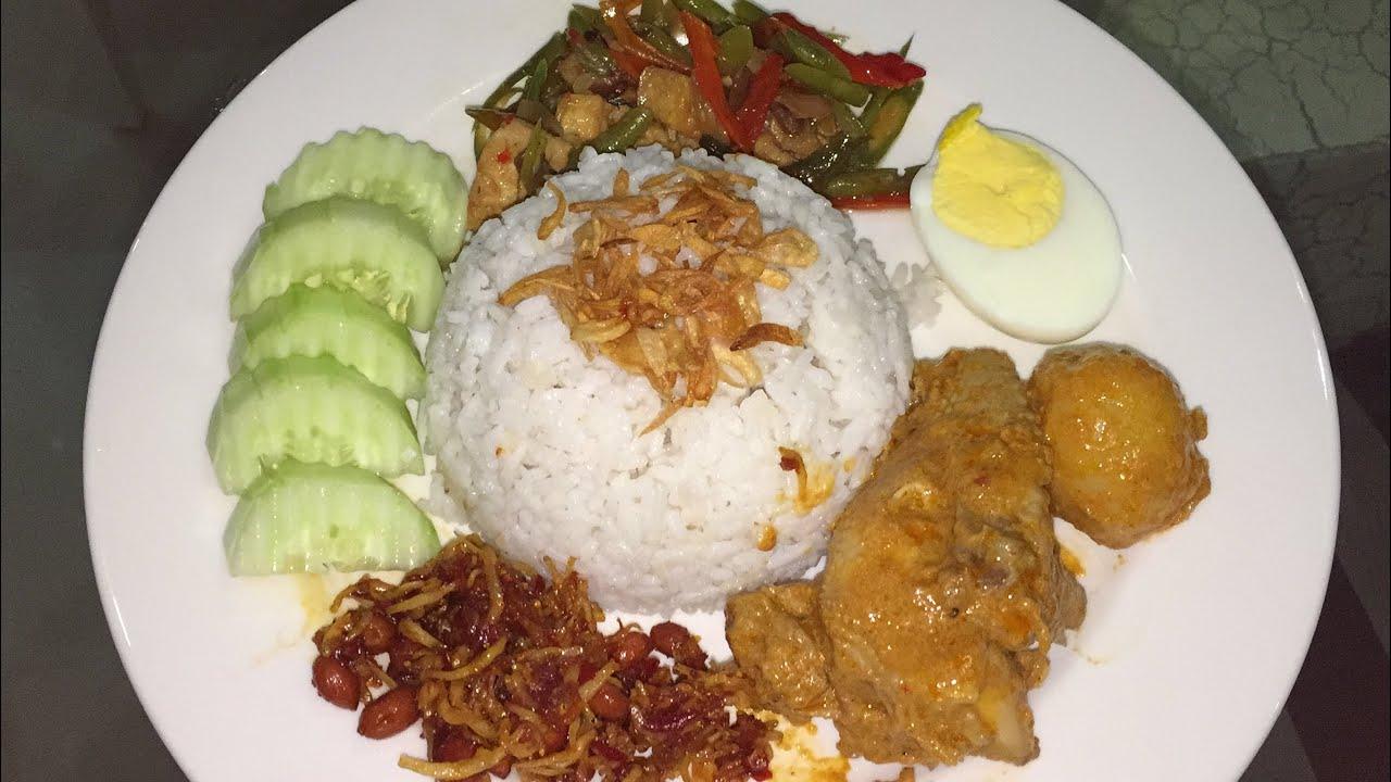 How To Cook Coconut Milk Rice And Salted Soya Bean Shrimp ( Nasi Lemak Dan  Tauco)