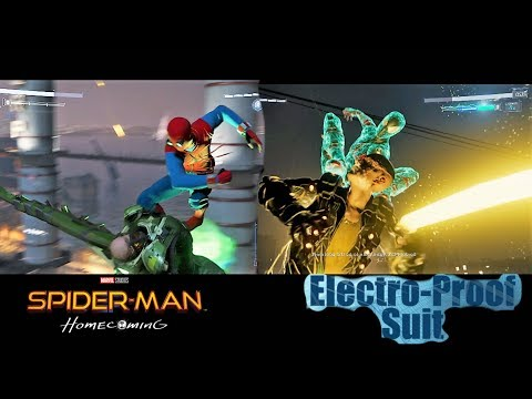 Spider-Man vs Electro and Vulture With Home Made and Electro Proof Suit - SPIDER-MAN PS4