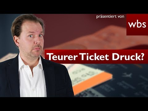 Krass: 2,50 Euro für selbst ausgedruckte Tickets - Ist das legal? | Rechtsanwalt Christian Solmecke