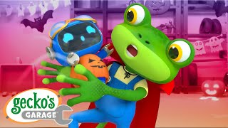 Haunted Halloween Garage|Gecko's Garage|Funny Cartoon For Kids|Learning Videos For Toddlers