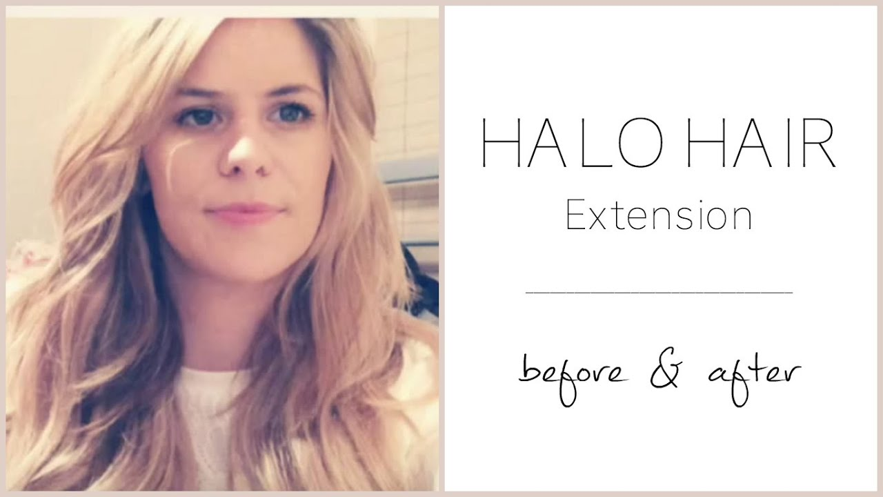 Halo Hair Extension Deluxe Review - Before/After/Styling - YouTube