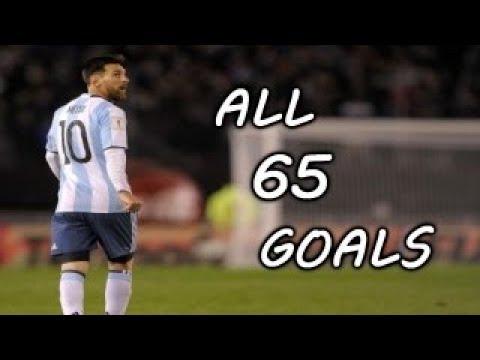 Todos los goles de Lionel Messi con Argentina  ? All 65 Goals For Argentina  ? 2006-2018