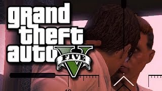 GTA 5 Funny Moments and Glitches!  (Tornado Cars and Kissing!)