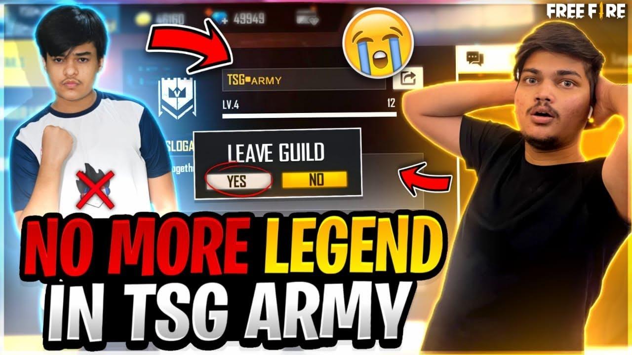 Tsg Legend Is Leaving Tsg Army Forever🥺|| Farewell -Garena Free Fire