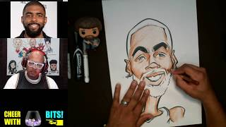 How To Draw and Color a Caricature Kyrie Irving