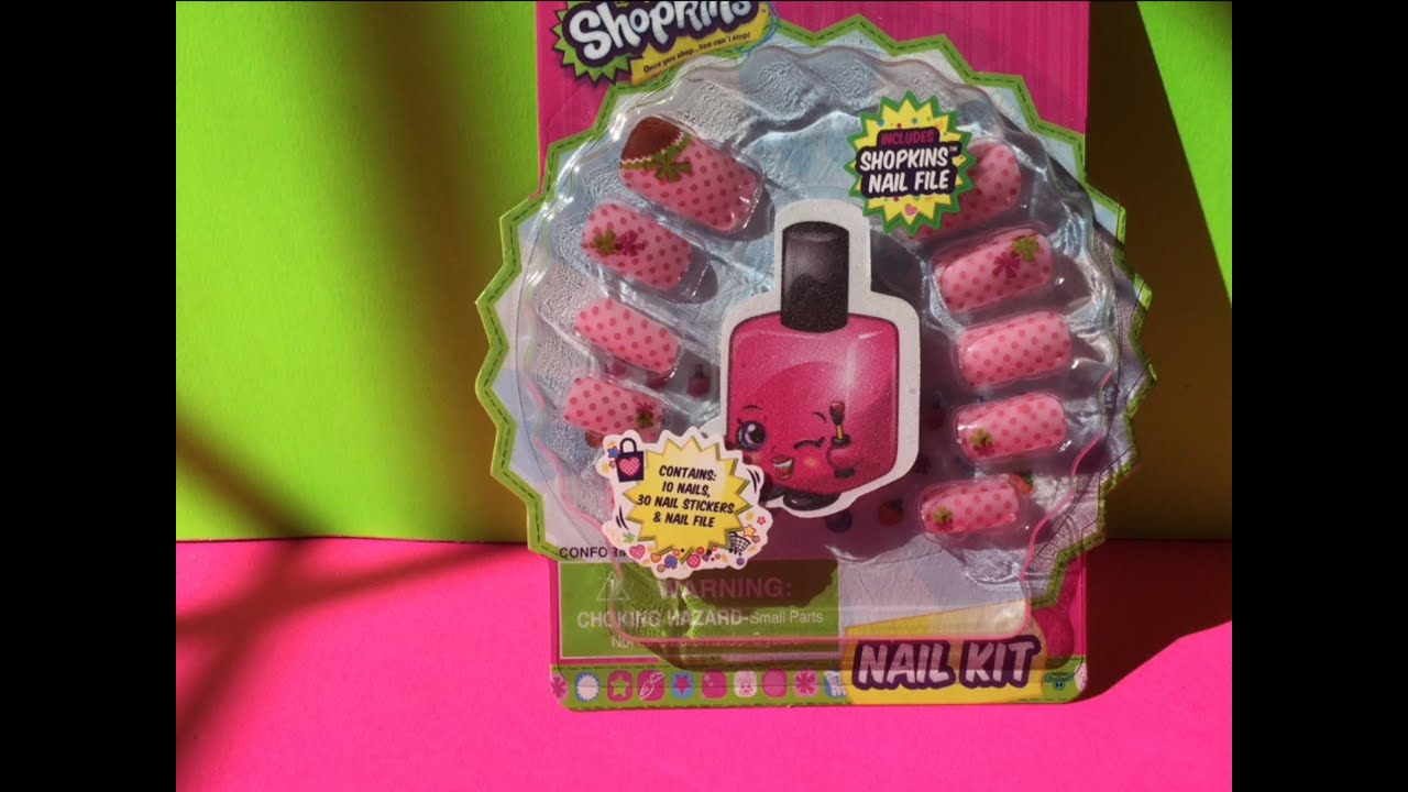 Shopkins Nail Kit - YouTube