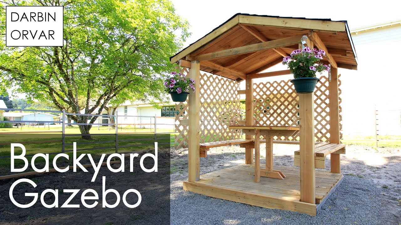 DIY Gazebo Build Part 2 - YouTube