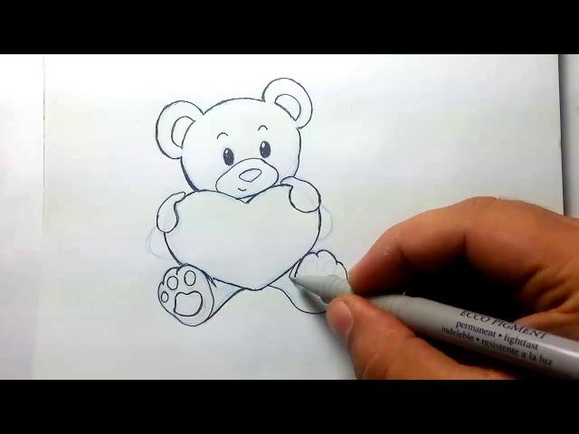 desenho livre ursinho love drawing little bear 123vid