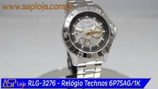 6521834714c RLG 3276 Relógio Technos Masculino Time de Heróis Arthur Zanetti Ginástica  6P75AG 1K