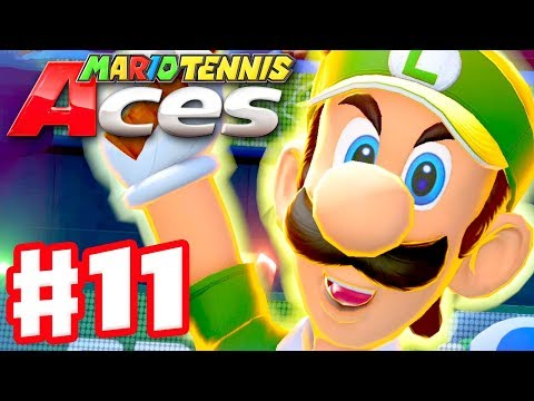 Mario Tennis Aces - Gameplay Walkthrough Part 11 - Luigi! Online Tournament! (Nintendo Switch) - 동영상