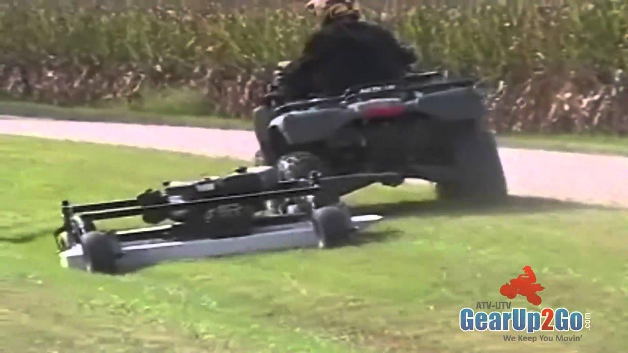 Kunz Model Pro60k Finish Cut Mower Fully Offset On Atv