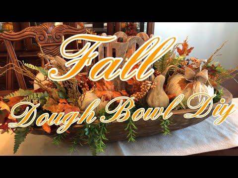 FALL DOUGH BOWL DIY (dollar tree )