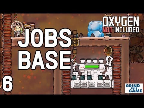 STEAM TURBINE! Oxygen Not Included - Occupational Upgrade Base #6 (JOBS, HATS & CONVEYOR RAILS)