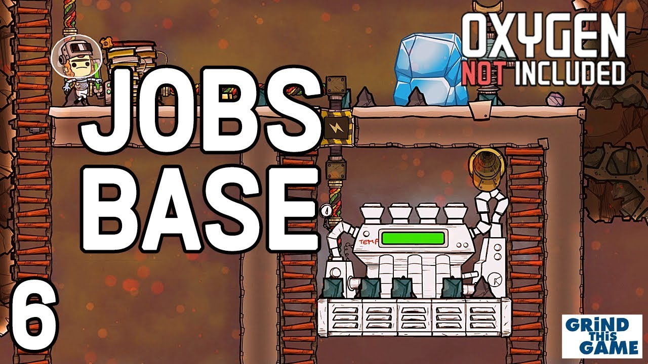 STEAM TURBINE! Oxygen Not Included - Occupational Upgrade Base #6 (JOBS,  HATS & CONVEYOR RAILS) by Grind This Game