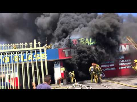 LAFD Task Force 33 - JP's Last Shift - Commercial Structure Fire - 139 E. Manchester -