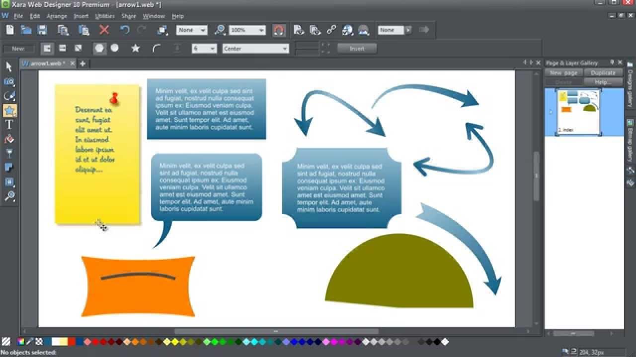 Create Edit Smartshapes In Xara Web Designer 10 Youtube
