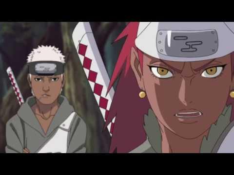 naruto gets beat up by karui for protecting sasuke naruto