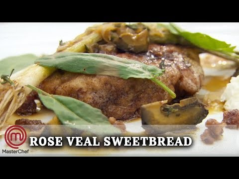 how-to-make-|-marcus-wareing's-rose-veal-sweetbread-with-baby-leeks-and-goat's-curd-|-masterchef-uk