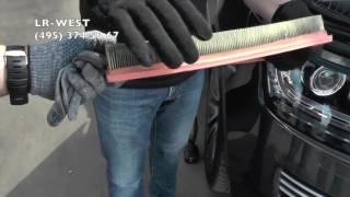 Рендж Ровер 4 4 ТД   воздушный фильтр двигателя  замена