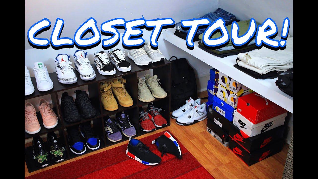 CLOSET TOUR! WHERE I KEEP MY SNEAKERS U0026 CLOTHING!   YouTube