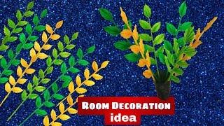 DIY leaf stick  Easy Room Decoration idea  Paper leaves pattern ArtHolic KM
