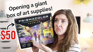 OPENING A $50 BOX OF MYSTERY ART SUPPLIES