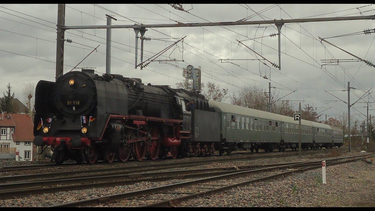 Strasbourg Francfort Train : train europe express frankfurt strasbourg avec la vapeur 01 118 des hef youtube ~ Medecine-chirurgie-esthetiques.com Avis de Voitures