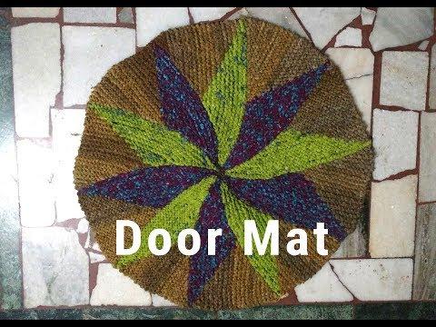 Create a DOOR MAT with Old Saree.