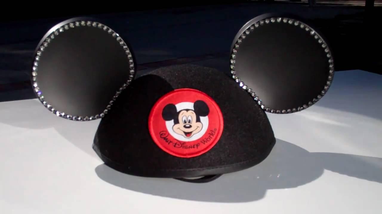 d4af12402 Walt Disney World Swarovski Mickey Mouse ear hat - YouTube