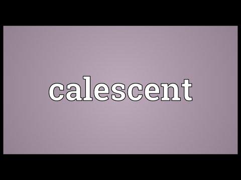 Header of calescent
