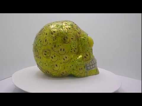 "SKULL Bali 'SKULLture' Resin Art Exhibition Richard Boyd-Dunlop ""Acid House"""