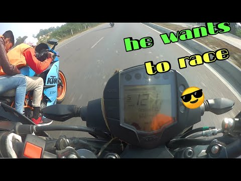 He wants to race with me? ||DUKE 250vs RC200 and R15V3| RACE ON ||😎ORANGE🍊 DAY RIDE||