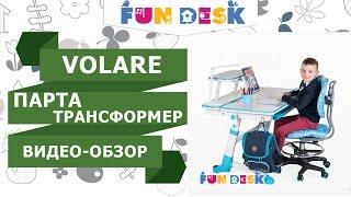 видео Ортопедическое кресло для парты FunDesk SST4 Blue голубое