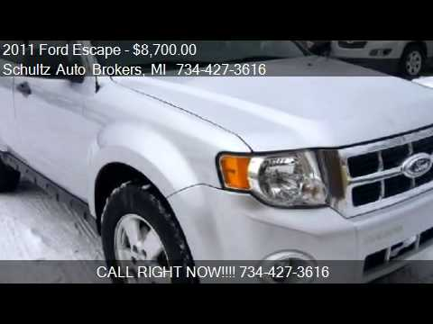 2011 Ford Escape XLT FWD for sale in Livonia, MI 48150 at Sc