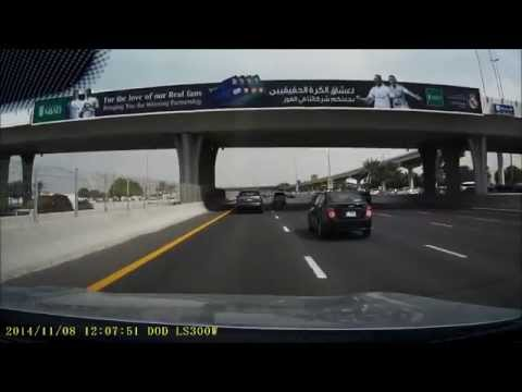 When 6 Lanes Aren't Enough!  Crazy Driving In Dubai - Dash Cam