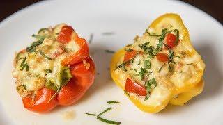 Фаршированные перцы с куриным мясом   АСМР   Рецепт