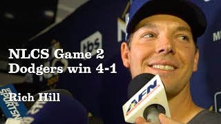 Rich Hill on his NLCS Game 2 performance | Los Angeles Times